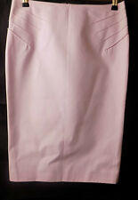 Versace Vintage Baby Pink Stitch Detailed Pencil Skirt Size 26 40 UK Size 8