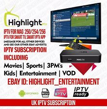 12 mese Regno Unito IPTV. VOD/3PM's - SmartTV/Mag/zgemma/Android/STB EMU/firestick/Enigma 2