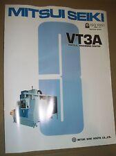Mitsui Seiki Vmc Vt3A Specification