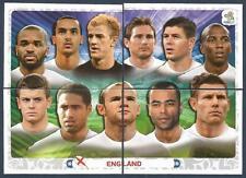 PANINI EURO 2012- #486/487/488/489-ENGLAND TEAM PHOTO