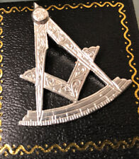 More details for masonic silver pendant/fob stamped lovely condition weight 5.3g