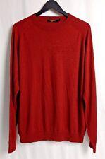 Tom James Mens Sweater Cashmere Silk Tencel Blend Crew Brick Red LS Soft XL