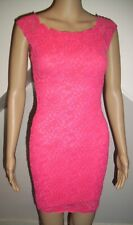 jane norman pink lace body con stretch dress size 6