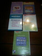 Lot of 5 Creating Keepsakes software and Digital Magazines ! Nice!