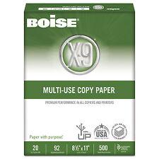 Boise X-9 Multi-Use Copy Paper 92 Bright 20lb 8-1/2 x 11 White 2500 Sheets