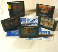 SEGA Mega Drive Games Lot of 5: Sonic 2, Alex Kidd, Jurassic Park, Blockout +