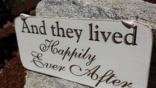 And They Lived Happily Ever After Wedding Sign, Rustic Handmade Wedding Decor