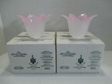 *2* New Partylite Retired Pink Rosebud Votive Tealight Candle Holders P0609