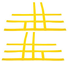 Raptor 700 660 Nerf Bar Nets  Fits Alba Tusk  with heel guards Yellow  J