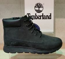 Timberland 6 inch Killington Black Leather Boots with Laces and Zip