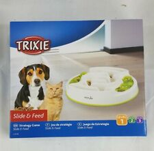 TRIXIE Level 1 Pet Activity Slide and Feed White New