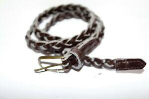 Women's Thin Braided Brown Belt #BEL2