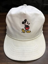 Walt Disney Mickey Mouse Strapback Hat Vtg 1960's Baseball Cap Union Label Usa