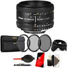 Nikon AF NIKKOR 50mm f/1.8D Lens with Top Accessory Kit