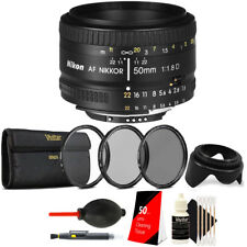 Nikon AF NIKKOR 50mm f/1.8D Lens with Top Accessory Kit