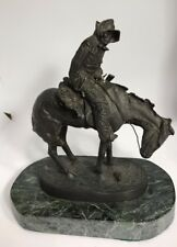 """Frederic Remington - The Norther - Bronze - Authorized Reproduction 8.5"""""""