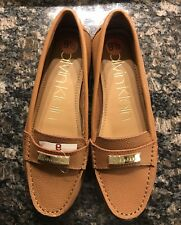 CALVIN KLEIN Women's Leather Light Brown Slip On Loafers Shoes Size 9.5M NWT