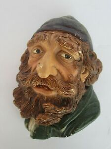 Vintage Bossons Chalkware Character Head Fagin, Made in England