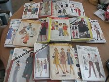 OVER 50 SIMPLICITY SEWING PATTERNS - WOMENS AND KIDS ALL SIZES - FREE SHIPPING!!