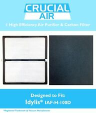 1 Idylis D HEPA Air Purifier & Carbon Filter, IAP-10-280 Model # IAF-H-100D