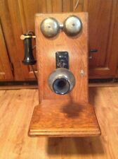 Vintage Wooden Telephone Wall Mount Crank Northern Electric Co.