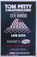 "Tom Petty / Steve Winwood ""Hypnotic Eye Tour"" 2014 San Diego Concert Poster"
