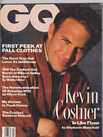 JULY 1991 GQ --- VINTAGE MENS FASHION magazine --- KEVIN COSTNER