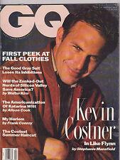 JULY 1991 GQ --- VINTAGE MENS FASHION magazine --- KEVIN COSTNER