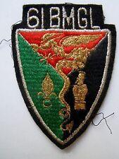 Insigne tissu ancien patch 61° BMGL BATAILLON MIXTE GENIE LEGION ETRANGERE