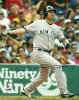 Johnny Damon Signed New York Yankees 8x10 Photo - COA - Boston Red Sox - PSA