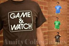 Juego Y RELOJ Logotipo en Blanco [] Camiseta Nintendo y colores [9] Zelda, Donkey Kong