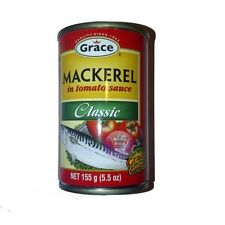Grace Mackerel in Tomato Sauce, 5.5 oz Tin 4 Count