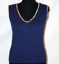 Prima Classe maglia blu mappa t shirt canotta smanicata Alviero Martini S M L