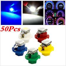 Car 50Pc T5 B8.4D LED Socket Instrument Panel Gauge Cluster Plug Dash Light Bulb