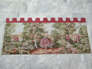 6746 - Old French / Belgium Tapestry Wall Hanging - 173 x 65 cm