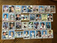1982 CALIFORNIA ANGELS Topps Complete Baseball Team Set 33 Cards CAREWx3 LYNNx2