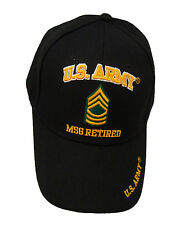Licensed US Army Master Sergeant MSG Retired Cap 383-BLK