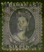Bahamas 1863 6d Dp Lilac SG31 Fine Used