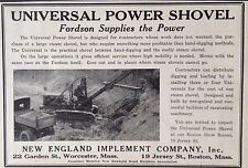 VINTAGE 1927 AD {F1}~UNIVERSAL POWER SHOVEL. NEW ENGLAND IMPLEMENT CO. WORC, MA
