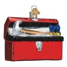 Old World Christmas Tool Box (32301)N Glass Ornament w/Owc Box