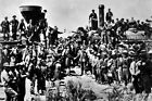 """New Photo: The """"Golden Spike"""", Completion of Transcontinental Railroad - 6 Sizes"""
