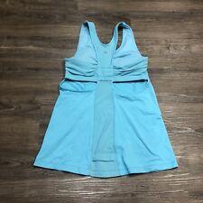 Lululemon Tone It Tank 6 Workout Top Angel Blue Racerback Cutout Yoga Workout