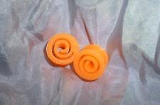 Túneles de oreja de silicona-Naranja Brillante 16 mm tuberías-Enchufes camillas