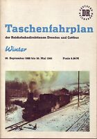 Fahrplan Reichsbahndirektionen Dresden und Cottbus 1980/1981 Sehr guter Zustand!