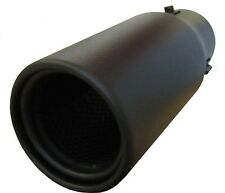 Universal Car Sport Matt Black Exhaust Tip Muffler Big Bore Trim Pipe Clip On