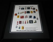 1989 Zayre Automotive Supplies Framed 11x14 ORIGINAL Vintage Advertisement