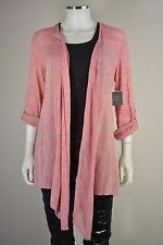 Women's John Mark size Small S Pink Lace Shawl Flowing Throw Sweater Jacket NWT