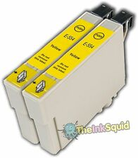 2 Yellow T0554 non-OEM Ink Cartridge For Epson Stylus Photo RX420 RX425 RX520