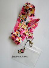 Disney Minnie Mouse Lanyard Neck Strap + Clear PVC ID Holder + Charm