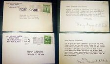 1944 - 1945 MARY MARGARET McBRIDE RADIO HISTORY AUTOGRAPH CARD NOTES SIGNED